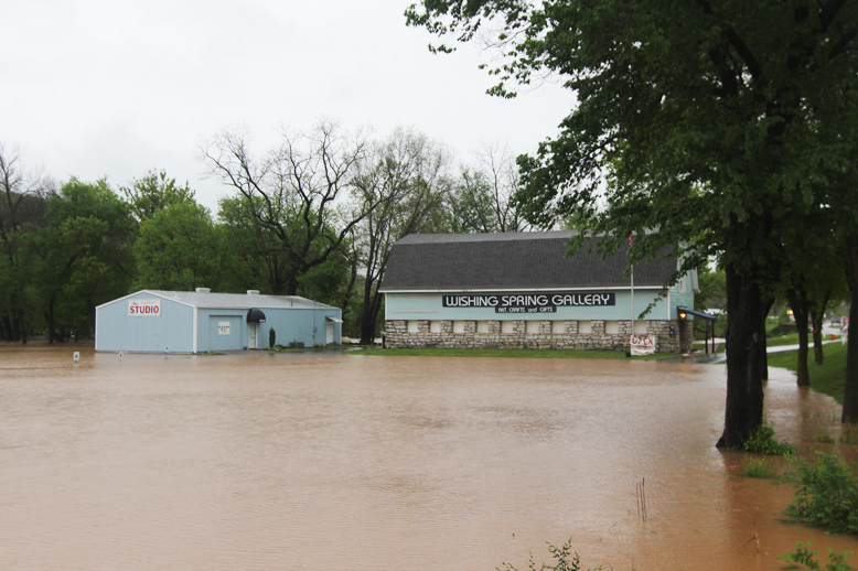 Heavy rains in Spring 2011 caused Spring River to overflow it's banks but fortunately damage was slight among homeowners.