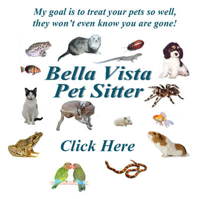 Bella Vista Pet Sitter serving Bella Vista and Bentonville in Northwest Arkansas